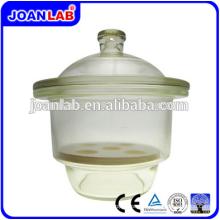 Equipamento JOAN LAB Desecador de vácuo de vidro transparente com placa de porcelana