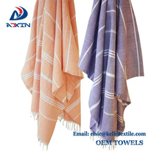 China suppliers 100% cotton turkish hammam bath towel beach towel with fouta