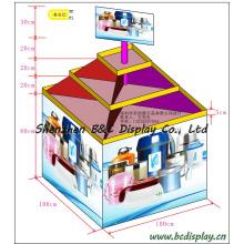 Taza, vaso de agua, tazas de regalo Soporte de cartón, mostrador de mostrador (B & C-C031)