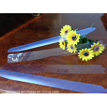 Clear PVC rigid sheet plastic collar stand for garment accessories(plastic products)