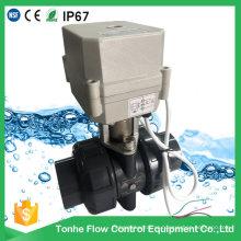 """IP67 2-Way 1 1/4 """"Inch Dn32 motorizado UPVC PVC atuador elétrico Válvula de esfera"""