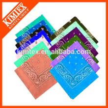 Cabeza cuadrada imprimida venda al por mayor modificada para requisitos particulares del algodón al por mayor