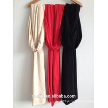 Moda nova senhoras cor sólida longa lenço / xaile