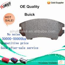OE Qualitätsbremsbelag r für Buick Autoteile