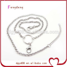 Stainless steel rolo chain for lockets