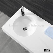 artificial stone one piece bathroom wash basins , wash hand basin