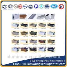 Brizial market windows aluminium profile of powder coated, anodized black and anodized bronze