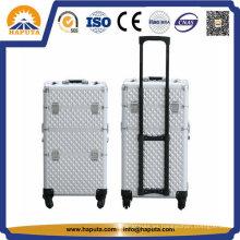 Caja de la carretilla cosmética material del ABS del marco de aluminio profesional