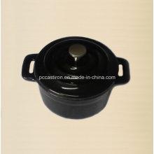 Esmalte de hierro fundido Mini tamaño de la olla 10 cm