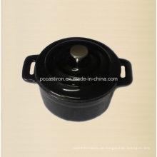 Emaille Gusseisen Mini Pot Größe 10cm