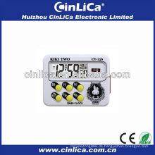 LCD-Anzeige Countdown-Timer mit Uhr CT-136
