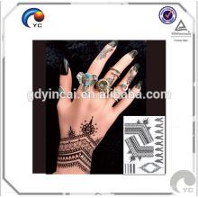 Henna Floral Pattern faux corps humain art mehndi style étanche autocollant de tatouage temporaire