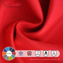 100% algodão FR e tecido antiestático