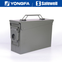 . 30 Cal Metal Bullet Box Ammo Can for Gun Safe