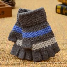 Bunter Winter-kundenspezifischer Acrylmagie-Handschuh-Mode-strickender Handschuh Fingerless