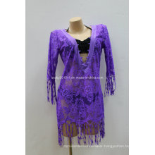 Lady′s Blouse Coverup with V at Front
