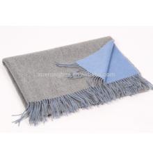 30% de cachemira y 70% de lana combina una manta de doble cara