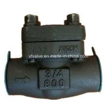 Válvula de verificação forjada API602 do pistão da extremidade da linha do aço carbono A105