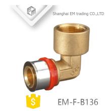 EM-F-B136 multilayer Tee pipe press fitting PEX-AL-PEX brass composite pipe