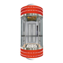 Gearless Panoramic Elevator for Indoor and Outdoor