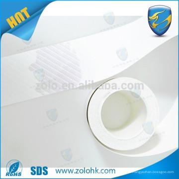 Matériau du papier autocollant de coquille d'oeufs de vinyle destructable et sensible à l'eau, matériau d'étiquette d'oeufs authentifiant l'eau