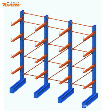 Single sided warehouse storage steel cantilever rack