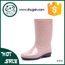 zapatos de lluvia de la jalea de plástico zapatos de lluvia de la moda de las mujeres
