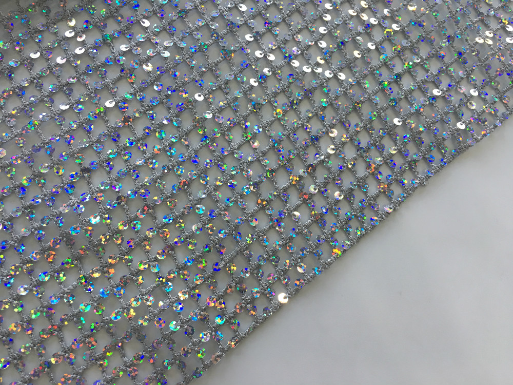 Sequin Chemical Lace Embroidery Fabric