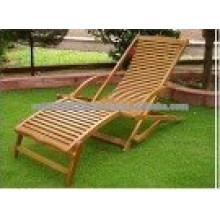 Juego de muebles de jardín / exterior de madera maciza - Sunlounger 3