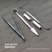 Instrumentos médicos desechables del equipo dental