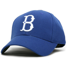 100%Cotton with Embroidery Patch Blue Color Caps