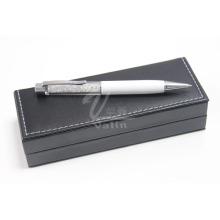 Белый металл подарок Кристалл ручка с подарочной коробке