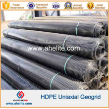 HDPE Uniaxial Geogrid for Retaining Walls Reinforcement