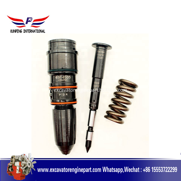 In stock CUMMINS diesel engine spare parts nta855 injector 4914505