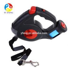 Hot and new pet dog leash with LED light waster bag hot for dog with 15 free bag