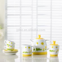 2015 neues design kinder bone china kaffee set tee-set
