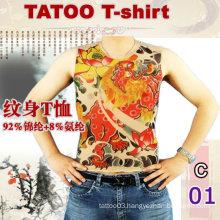 2016 hot sale womens short sleeve tattoo t-shirt