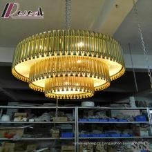 Iluminação moderna e luxuosa do pendente do ouro do ouro com hotel