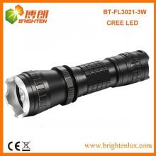 Factory Sale 3mode 16340 batterie Alimenté 3w CREE LED Q3 / Q5 Tactique Petit Mini Power Rechargeable Torch Light Prix