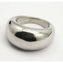316L stainless steel chunky silver special women finger ring