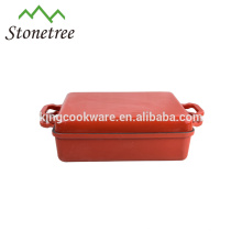 China Factory Suppliers Cookware Shallow Cast Iron Casserole Dish