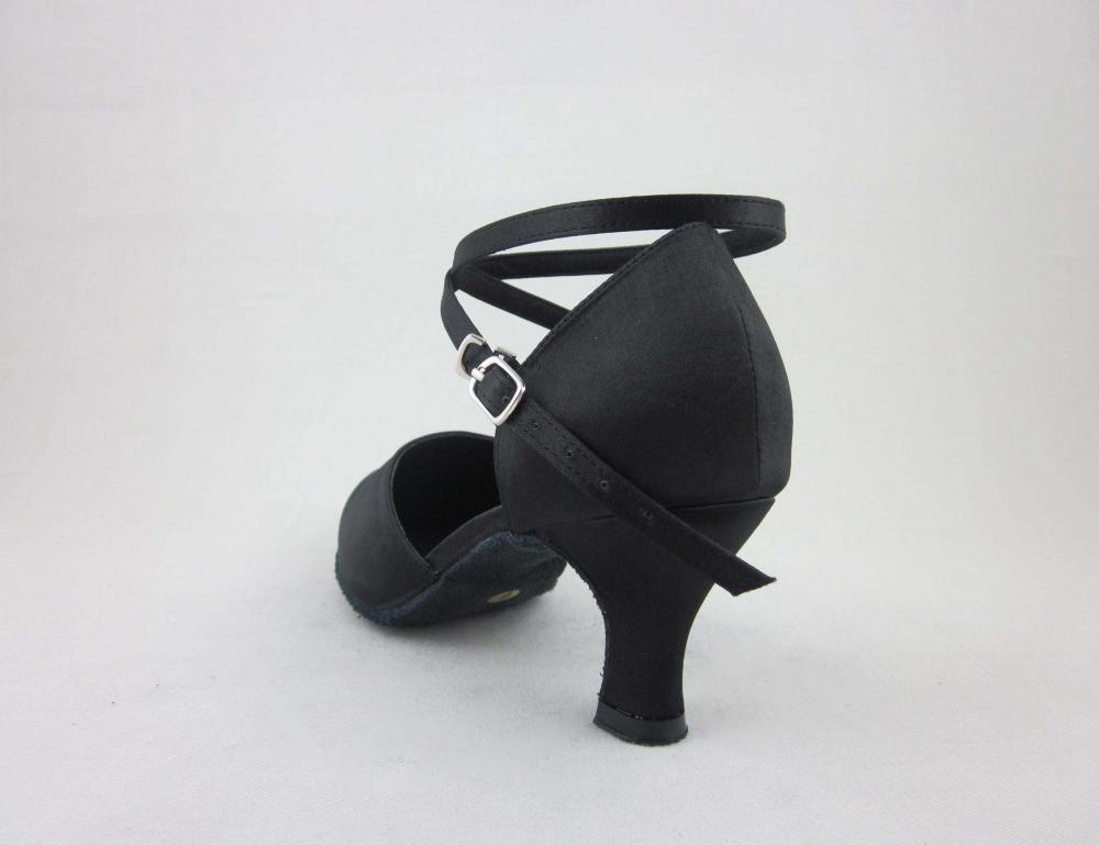 Black Satin Ballroom Shoes