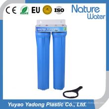 Filtro de água azul de dois estágios