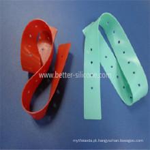 Torniquete descartável de borracha de silicone meidical
