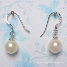 925 Silver Round Freshwater Pearl Earrings (ER1443)
