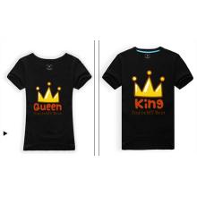 Großhandelsbambus-organisches schwarzes nettes Familien-Paar-T-Shirt
