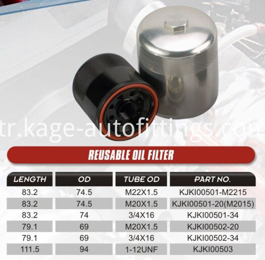 Reusable Oil Filter