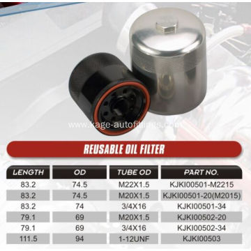 universal billet re-usable oil filter