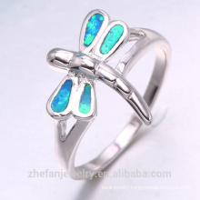 Custom logo stainless steel opal ring manufactured in China