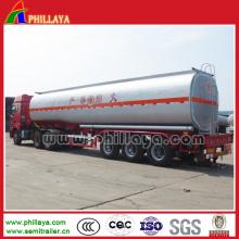 Aço carbono 50000 litros de tanque de combustível semi reboque